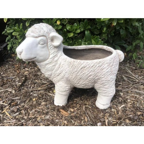 50cm White Lamb Sheep Planter Fiberglass