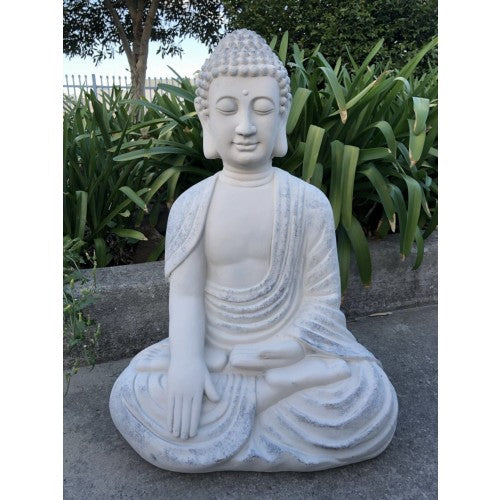 Medium Sitting Buddha White