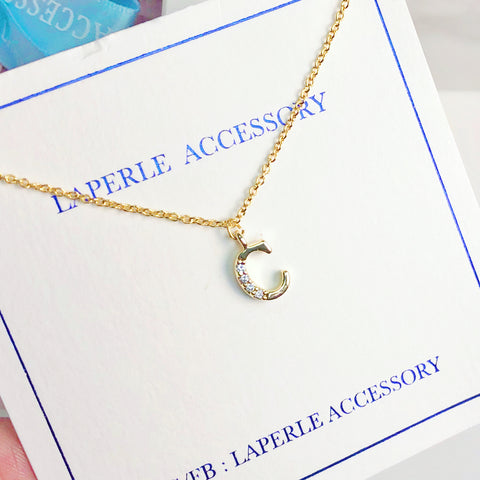 金色英文字母頸鏈 姊妹圑禮物系列 Initial A to Z Letter Necklace Bridesmaid Gifts