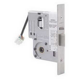 Lockwood 3570 Series Electric Mortice Lock with single cylinder, cam adaptor and timber face plate