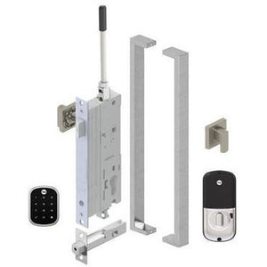 Yale Assure SL Electronic Digital Deadbolt Satin Nickel Entrance Set 143600