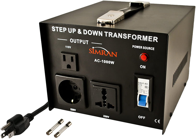 AC 110 / 220 Volts Step up/down: 1000 Watts