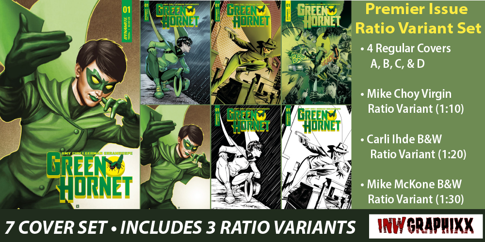 Green Hornet #1 Ratio Variant Set