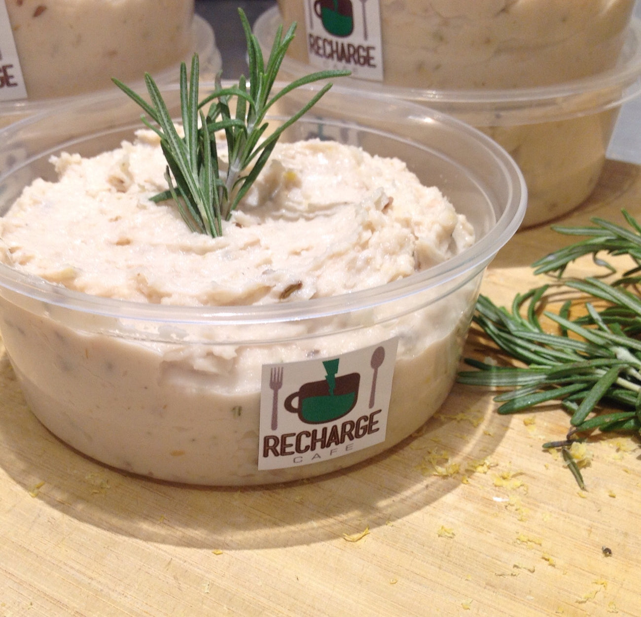 Aromatic Lemon & Rosemary Bean Dip