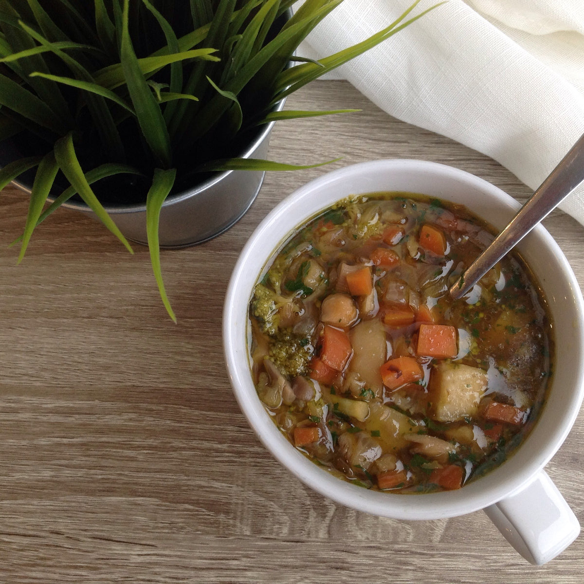 Homestyle Vegetable & Chickpea Soup