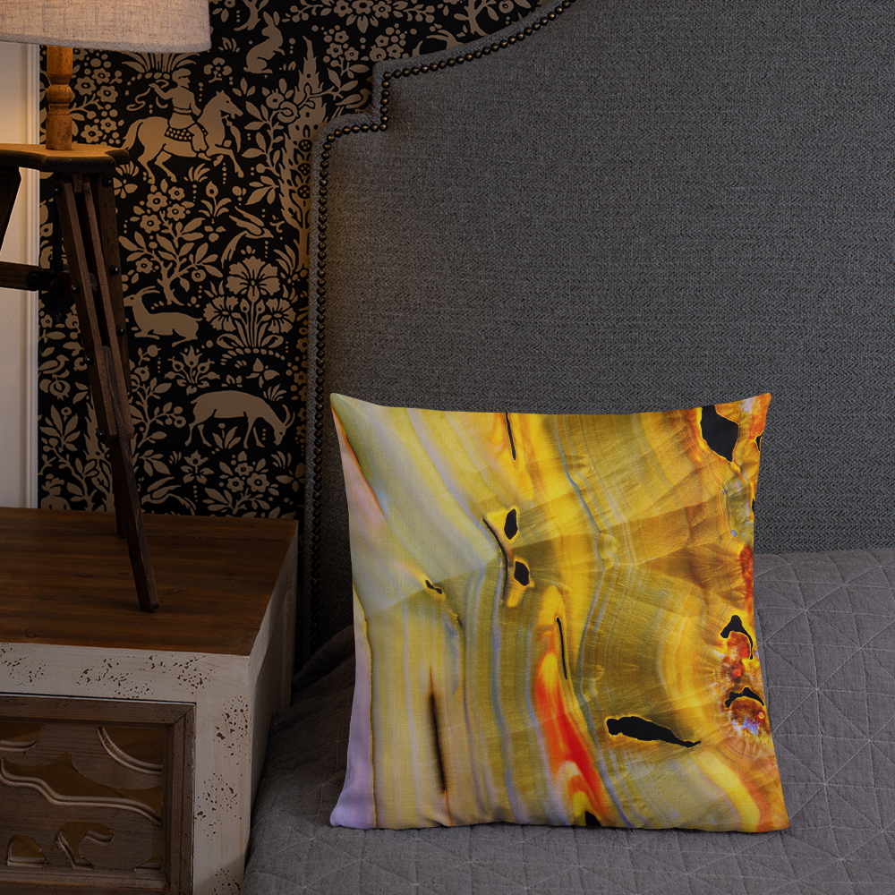 Banded Agate Throw Pillow
