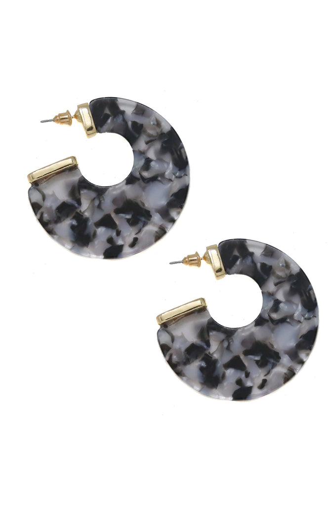 Rosarito Earrings in Black and Gold