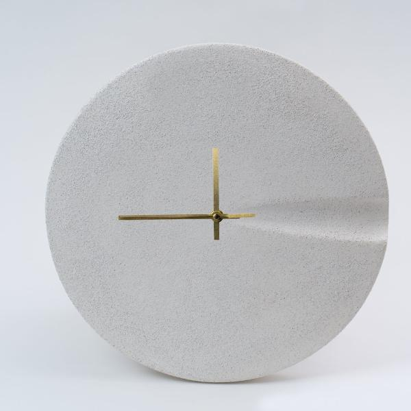 Textured White Ceramic Clock by Pretti.Cool
