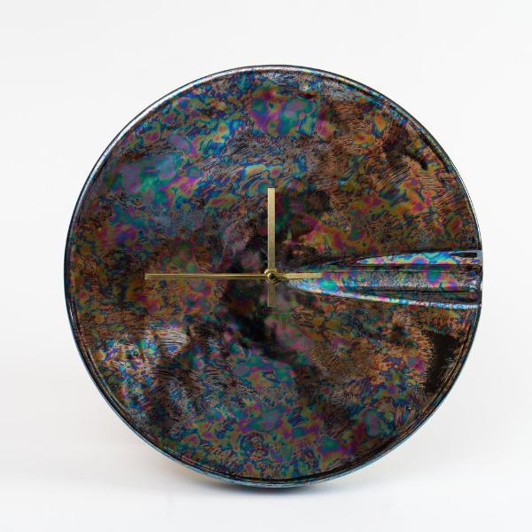 Black Iridescent Ceramic Clock