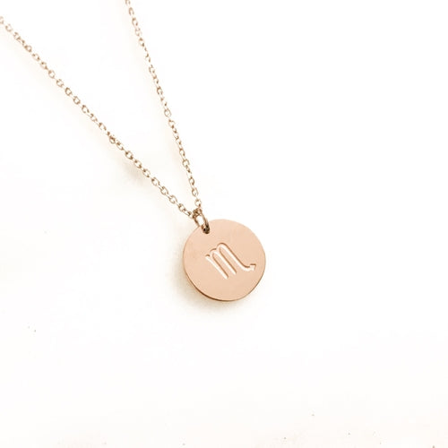 Rose Gold Zodiac Necklace