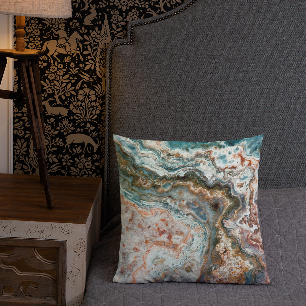 Mexican Crazy Lace Agate Throw Pillow