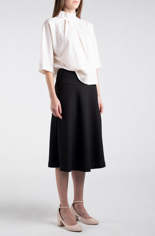 Semi-Fitted Flared Skirt