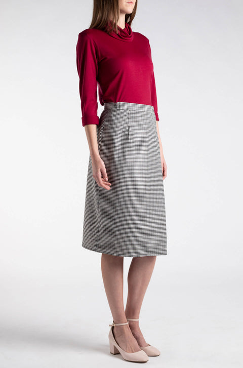 Woolen Wrap Pencil Skirt