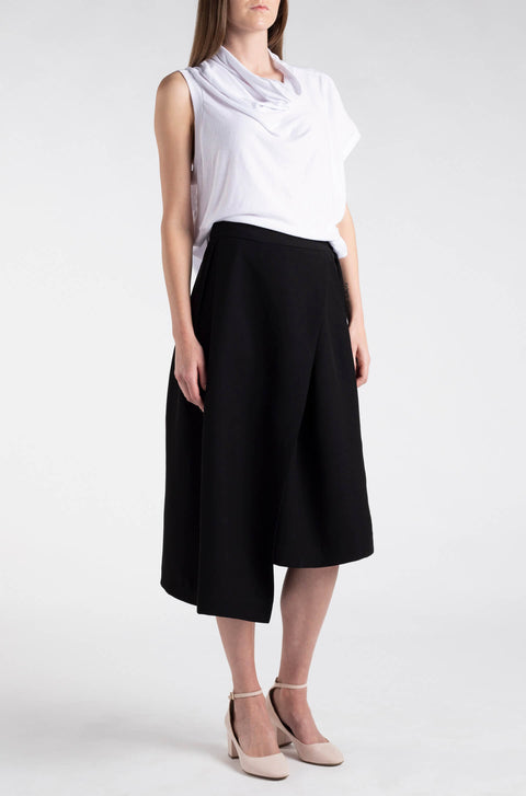 Asymmetric Wrap-Over Culottes