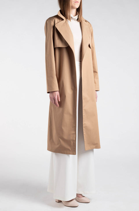 Relaxed Side-Split Trench Coat