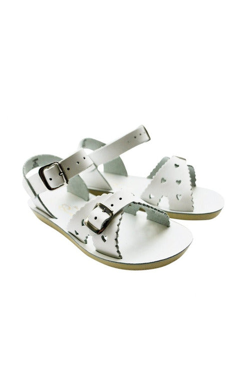 Saltwater Sandals - Sweetheart White