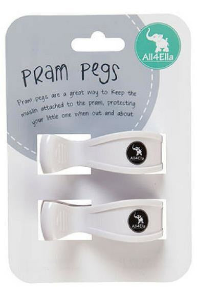 Pram Pegs - 2 Pack - White
