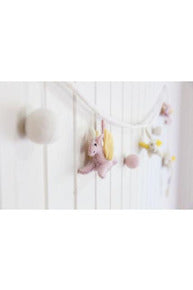 Felt Unicorn Garland - Pink