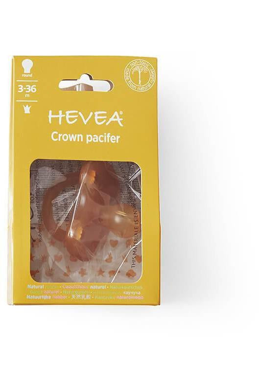 Hevea Pacifier - Crown Round Teat