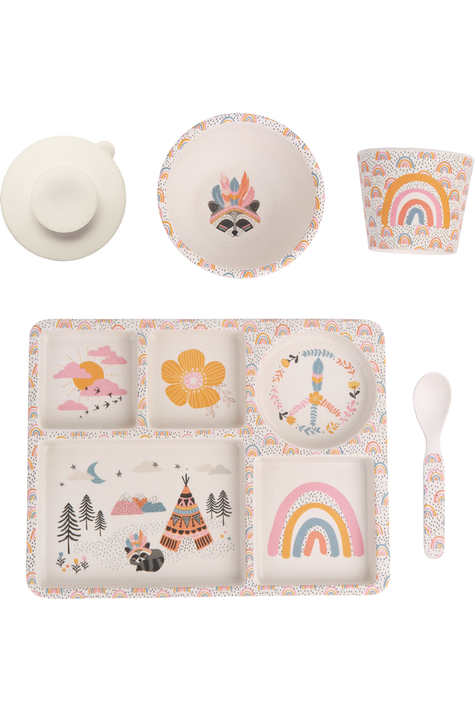 Gypsy Girl 5pc Bamboo Dinner Set