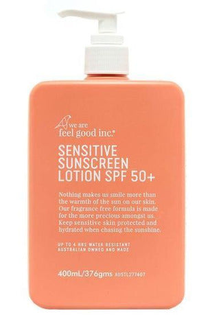 Feel Good Sunscreen - Sensitive 50+ 400ml pump