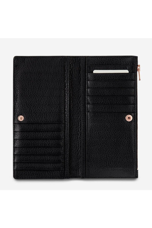Status Anxiety -  In The Beginning Wallet - Black