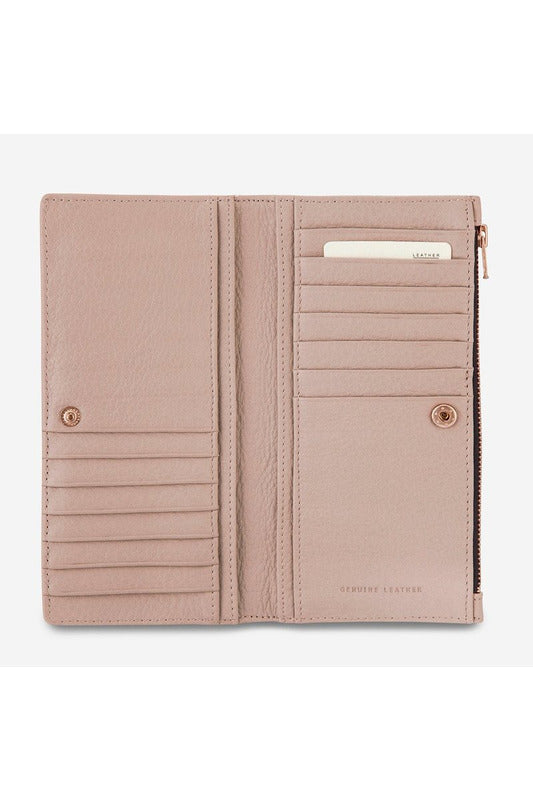 Status Anxiety -  In The Beginning Wallet - Dusty Pink