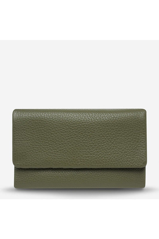Status Anxiety - Audrey Wallet - Pebble Khaki