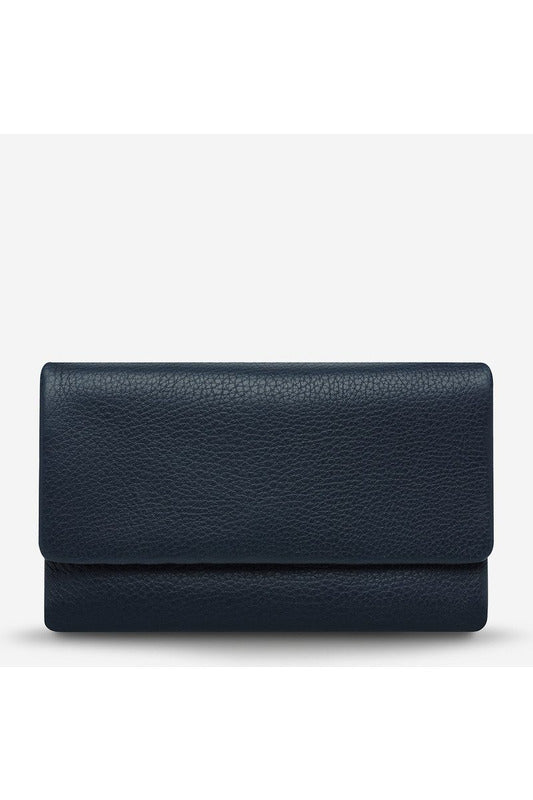 Status Anxiety - Audrey Wallet - Pebble Navy