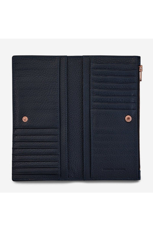 Status Anxiety -  In The Beginning Wallet - Navy
