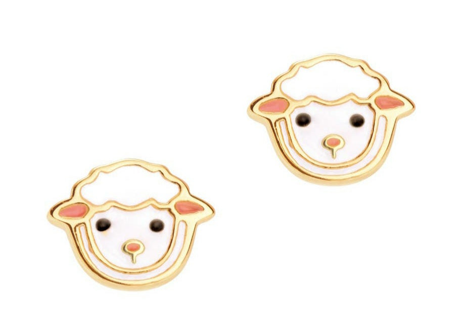 Lovely Lamb Cutie stud earrings