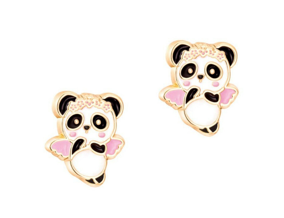 Panda Angel Cutie stud earrings