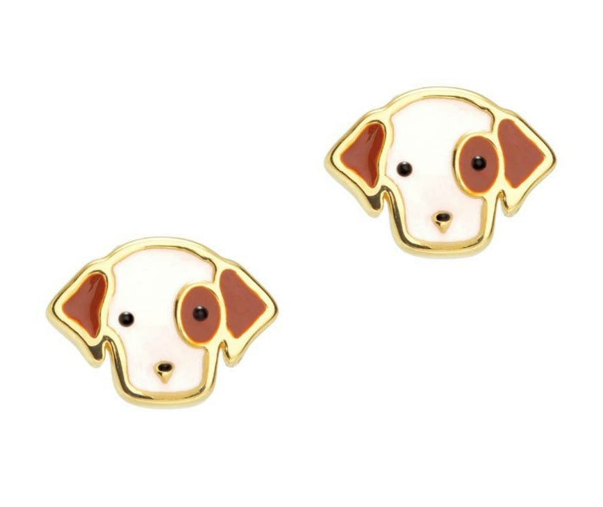 Perky Puppy Cutie stud earrings