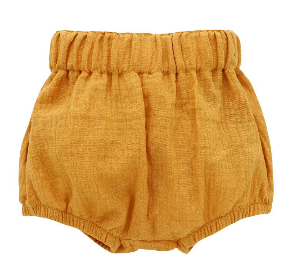 Mustard baby bloomers