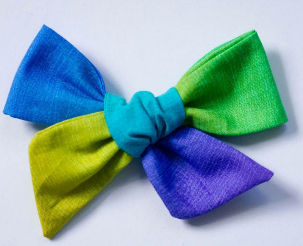 Rainbow Ombre bow