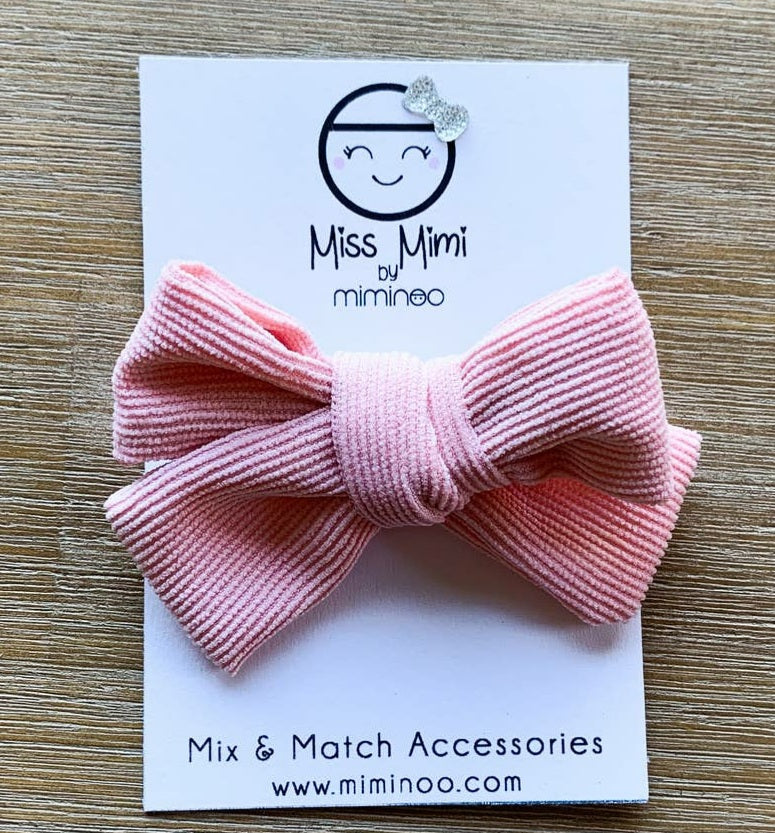 Corduroy Dusty Pink bow