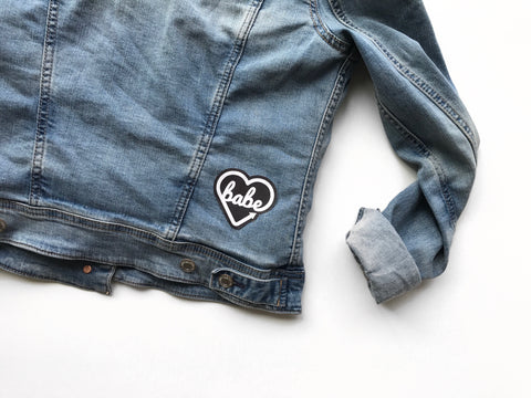 BABE Logo Embroidered Patch