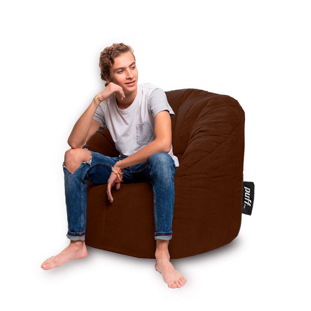 Puff sillón tipo lounger color chocolate - Tu Gow