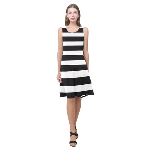Splice Dress/BW-STRPS HZ82