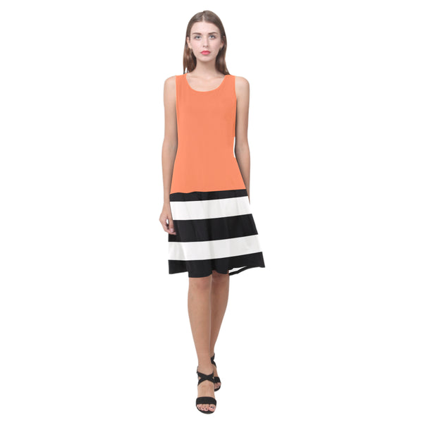 Splice Dress/BW-STRPS CORAL