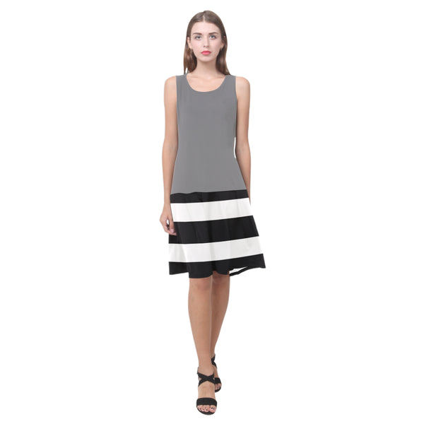 Splice Dress/BW-STRPS GRY