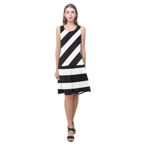 Splice Dress/BW-STRPS QH8
