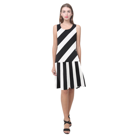 Splice Dress/BW-STRPS QV5