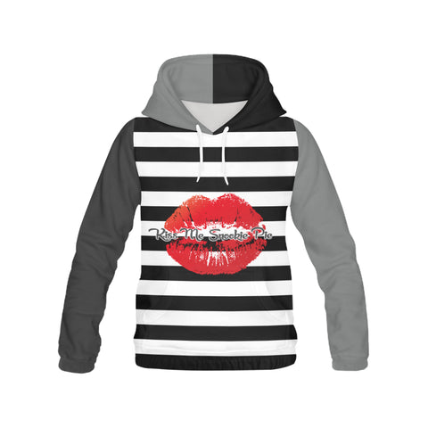 Hoodie H13/STRPS BW-MKiss 36GRY3X
