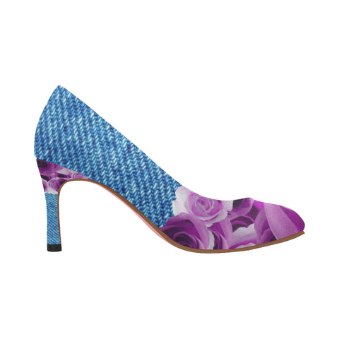 Nadine Pumps/Roses DENIM-PURP