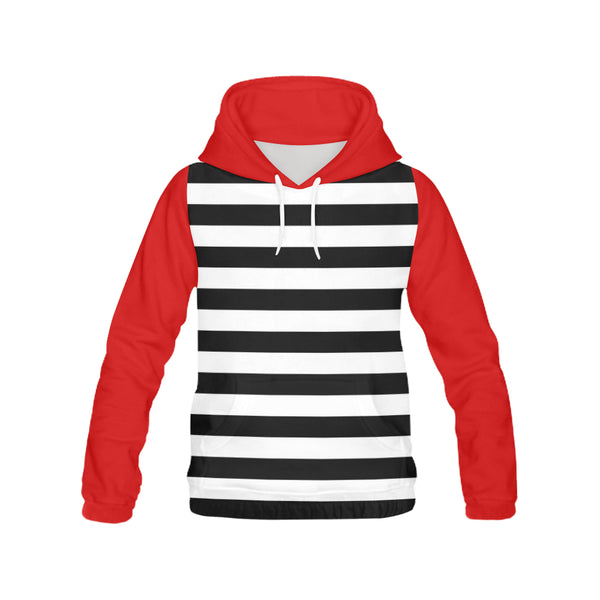 Hoodie H13/STRPS BW-HZ RED