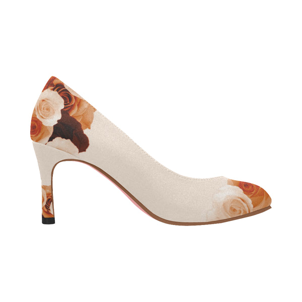 Nadine Pumps/Roses CHOCO CREAM