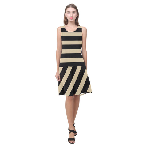 Splice Dress/Q4STRPS - WHEAT