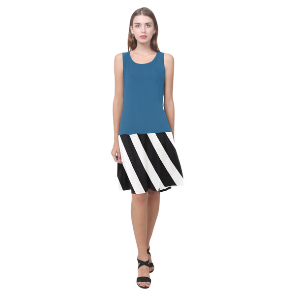 Splice Dress/BW-QSTRPS BLU11