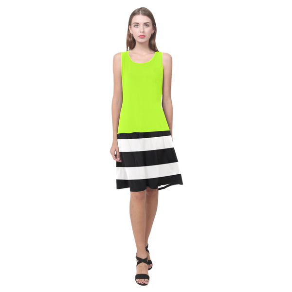 Splice Dress/BW-STRPS LIME